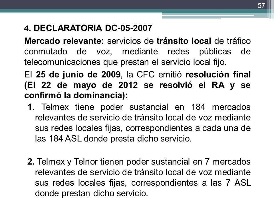 4. DECLARATORIA DC-05-2007