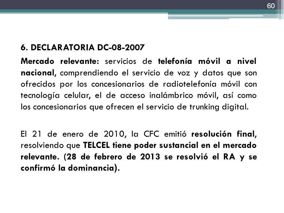 6. DECLARATORIA DC-08-2007