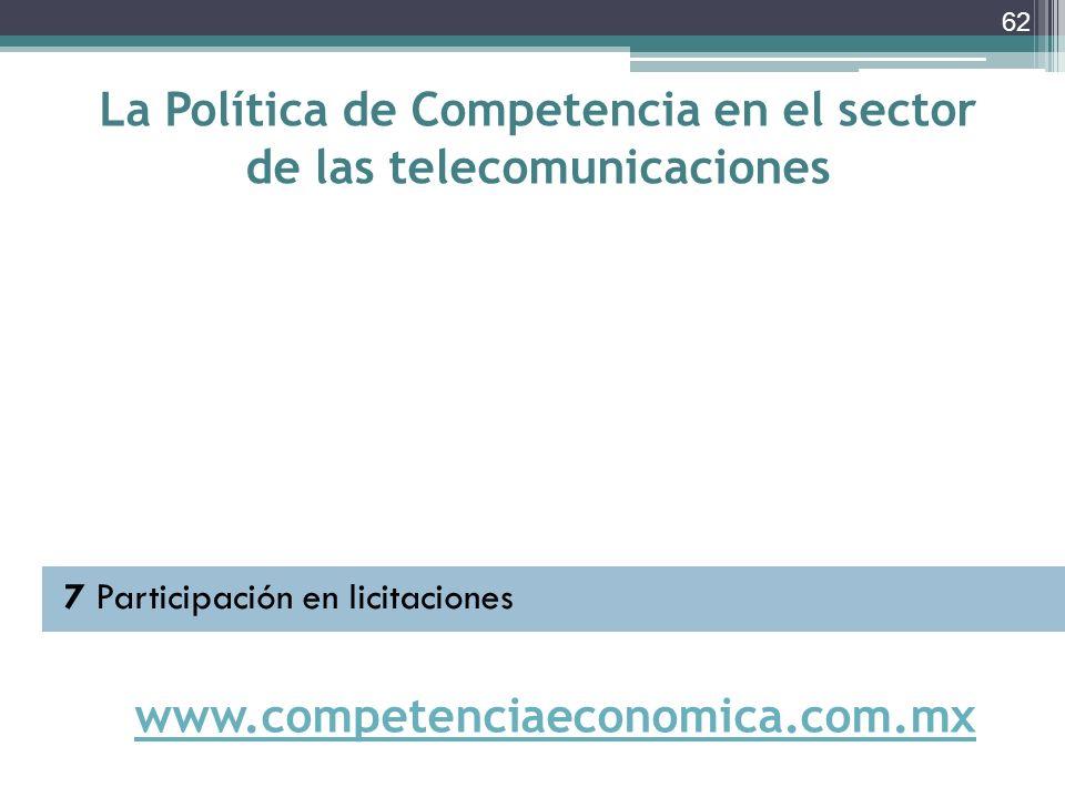 La Política de Competencia en el sector de las telecomunicaciones