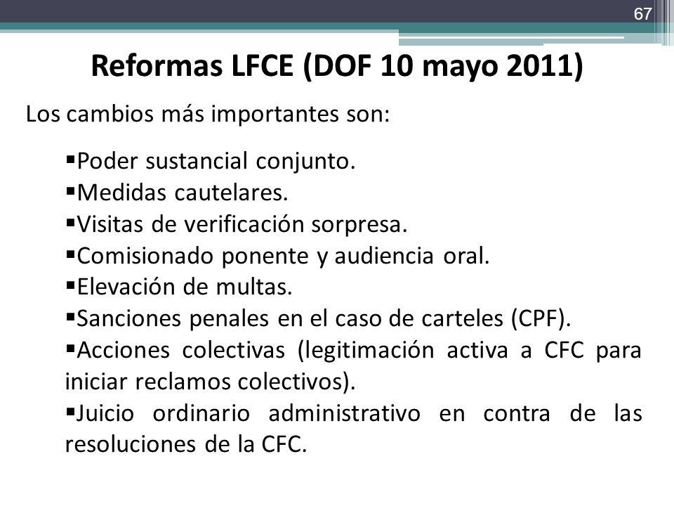 Reformas LFCE (DOF 10 mayo 2011)