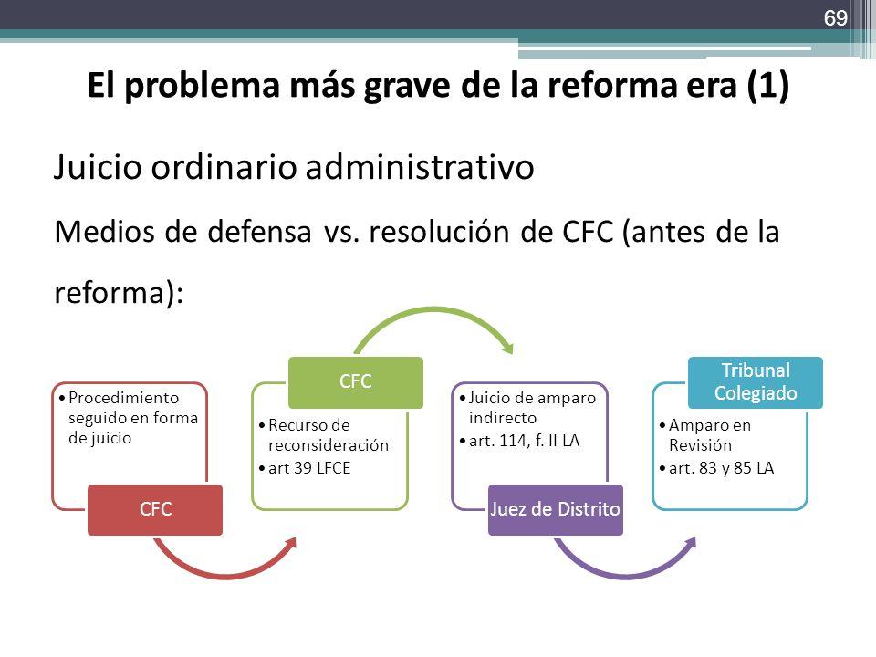 El problema más grave de la reforma era (1)