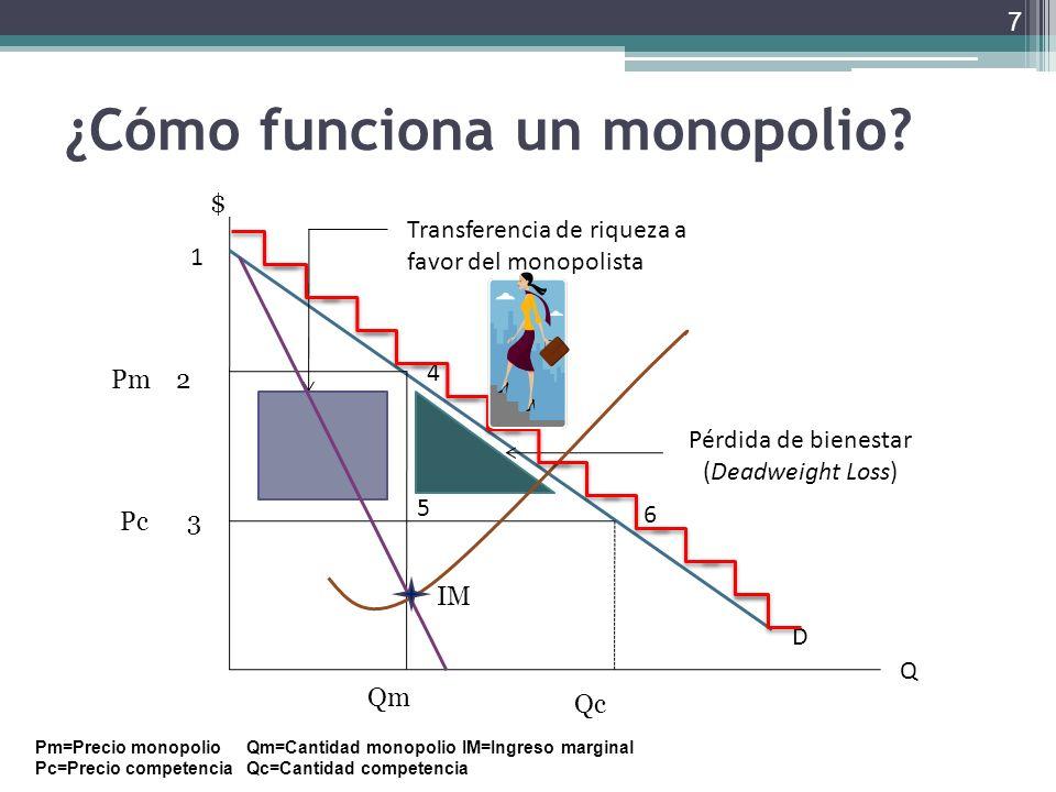 ¿Cómo funciona un monopolio