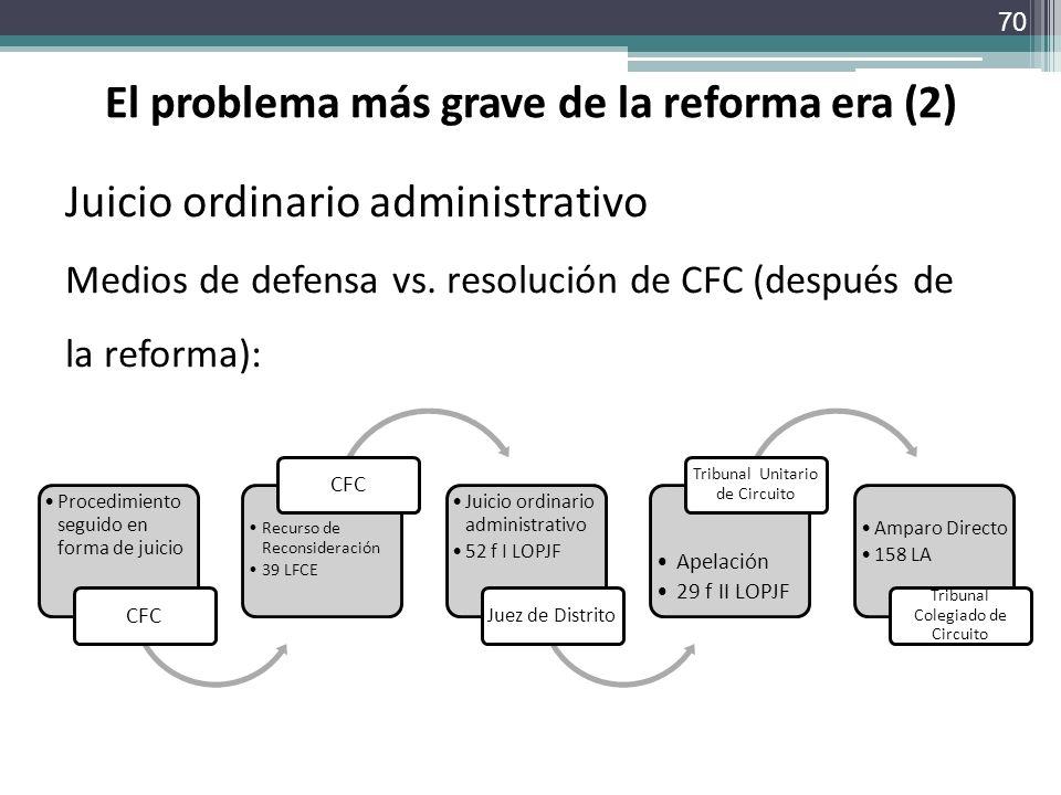 El problema más grave de la reforma era (2)