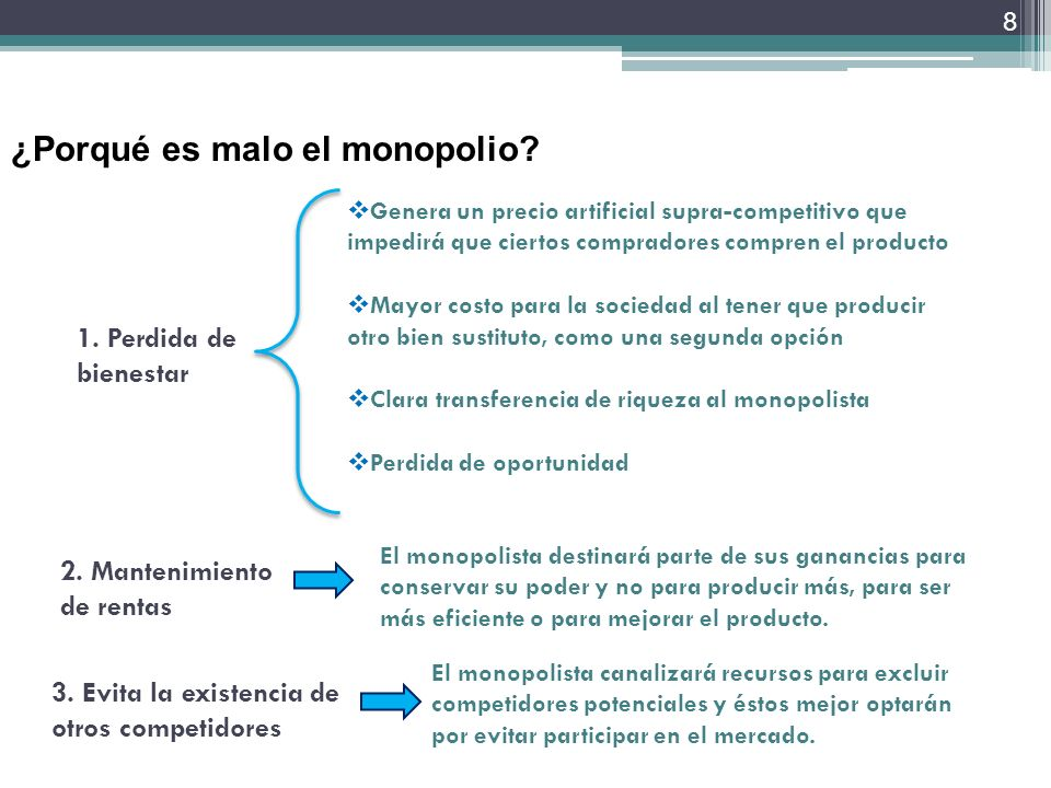 ¿Porqué es malo el monopolio