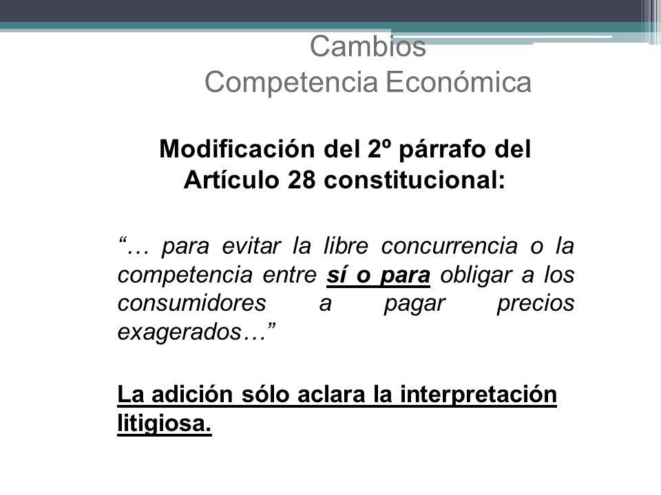 Cambios Competencia Económica