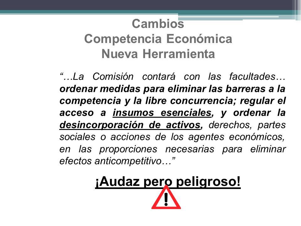 Cambios Competencia Económica Nueva Herramienta