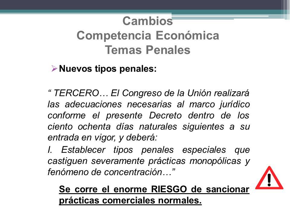 Cambios Competencia Económica Temas Penales