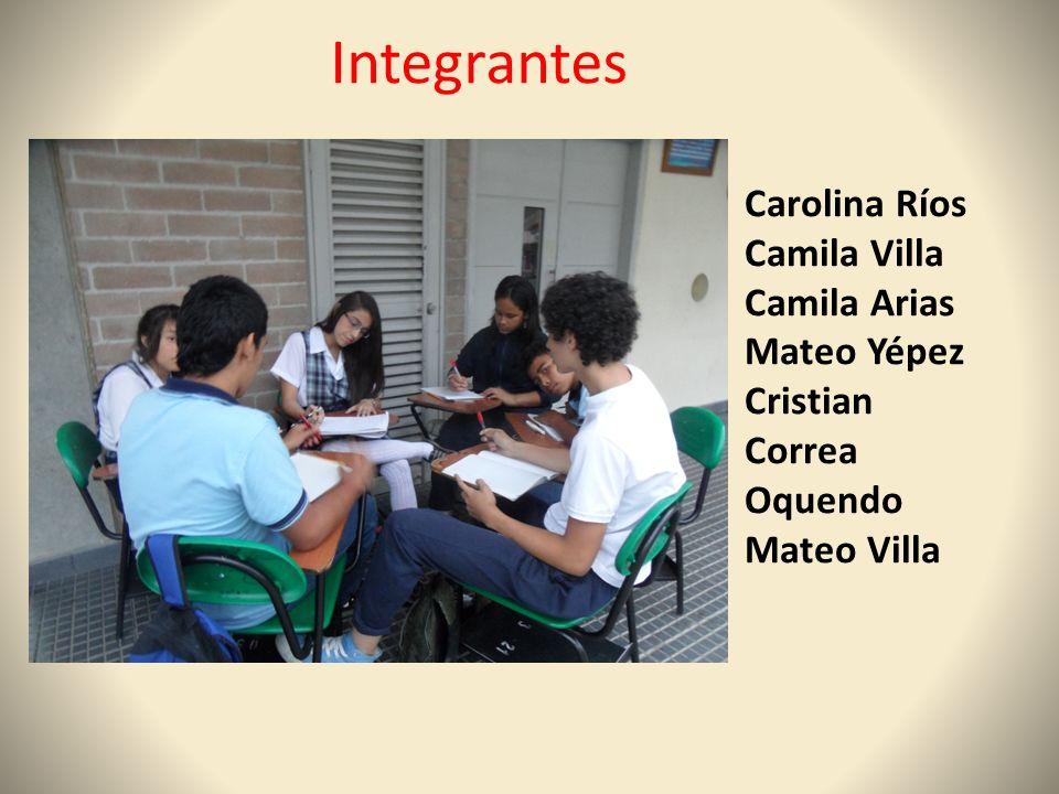 Integrantes Carolina Ríos Camila Villa Camila Arias Mateo Yépez