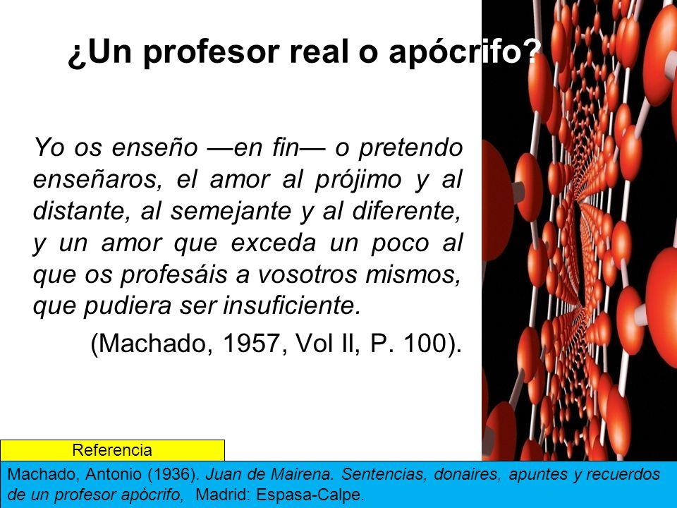 ¿Un profesor real o apócrifo
