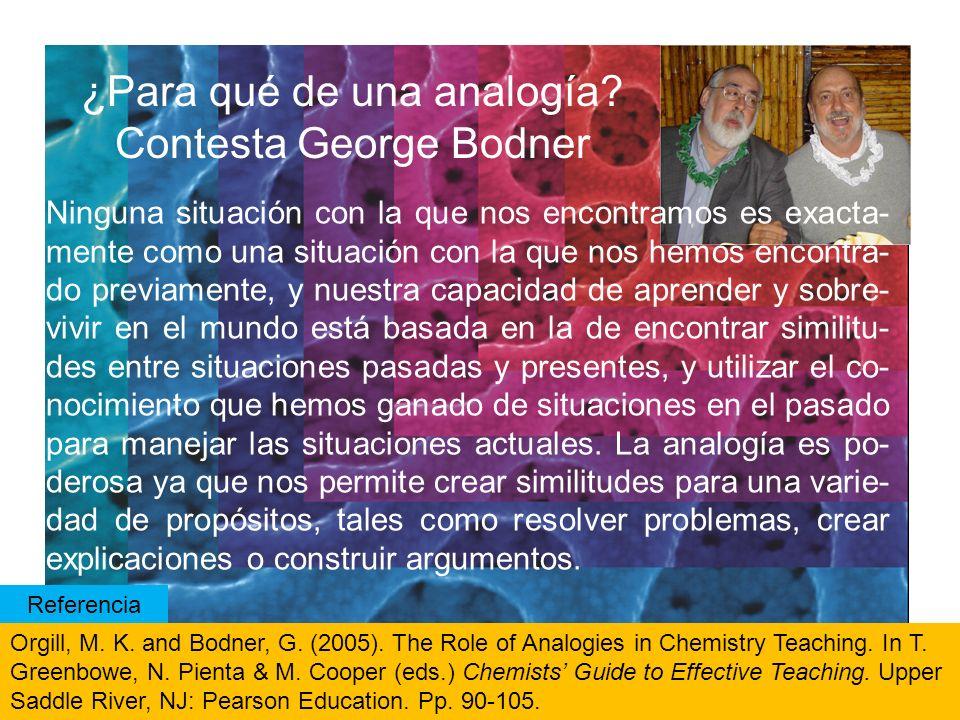 ¿Para qué de una analogía Contesta George Bodner