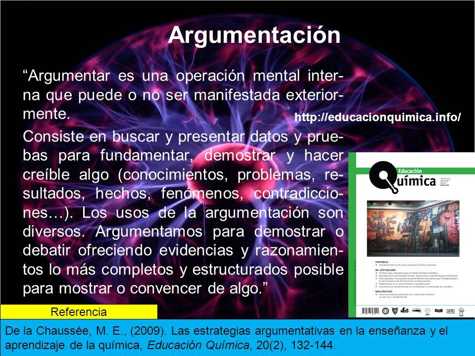 Argumentación Argumentar es una operación mental inter-na que puede o no ser manifestada exterior-mente.