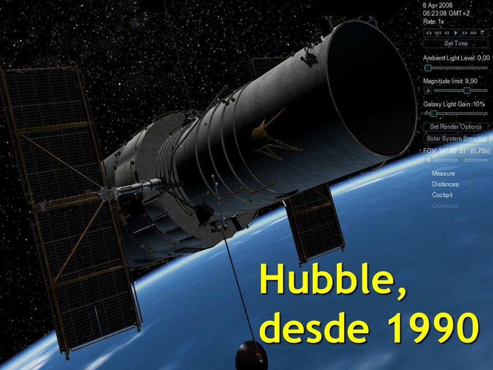 El telescopio Hubble nos ha permitido desde abril de 1990 mirar con acercamiento a múltiples fenómenos antes no registrados y verificado muchas hipótesis previas, tales como los hoyos negros o los planetas existentes que giran alrededor de otras estrellas.