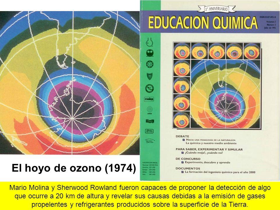 El adelgazamiento de la capa de ozono al iniciarse la aparición del Sol en la Antártida en el mes de octubre. El fenómeno fue ratificado en 1992 cuando se analizaron los resultados de concentraciones de ozono, expresados en unidades Dobson, entre 1980 y 1989.