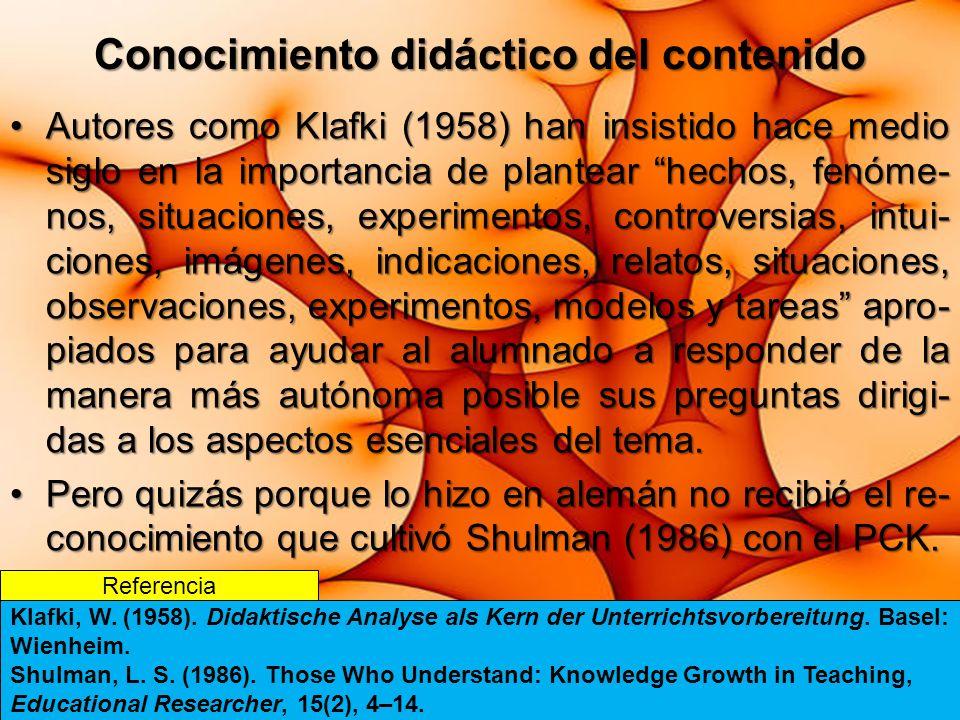 Conocimiento didáctico del contenido