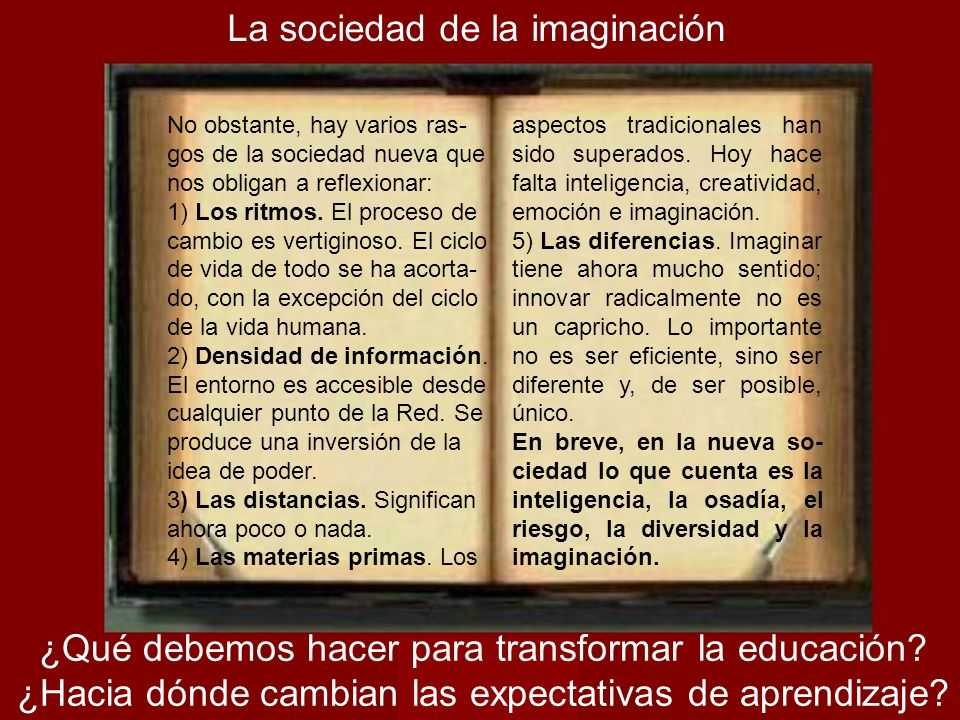La sociedad de la imaginación