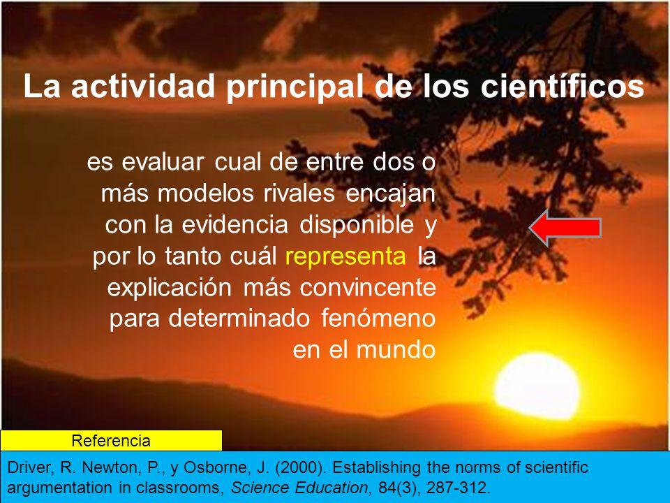 La actividad principal de los científicos
