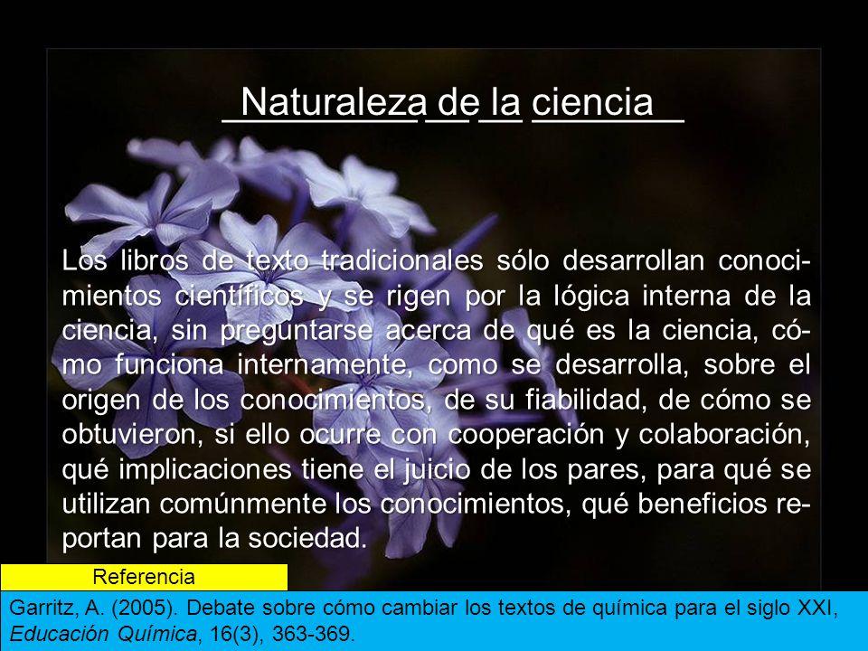 _________ __ __ _______ Naturaleza de la ciencia