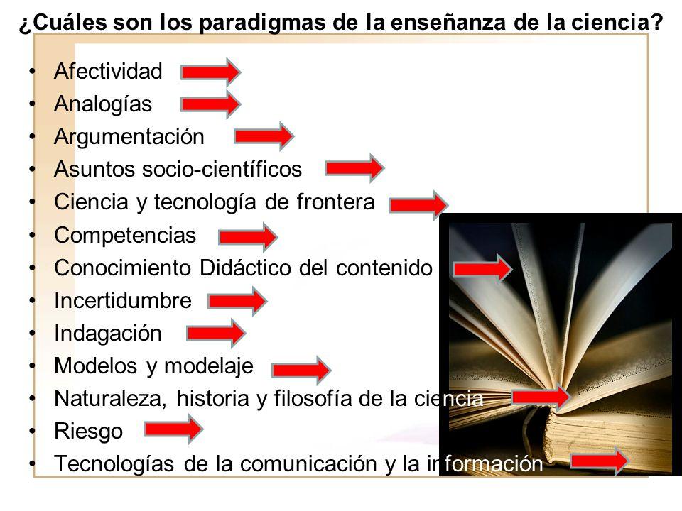 ¿Cuáles son los paradigmas de la enseñanza de la ciencia