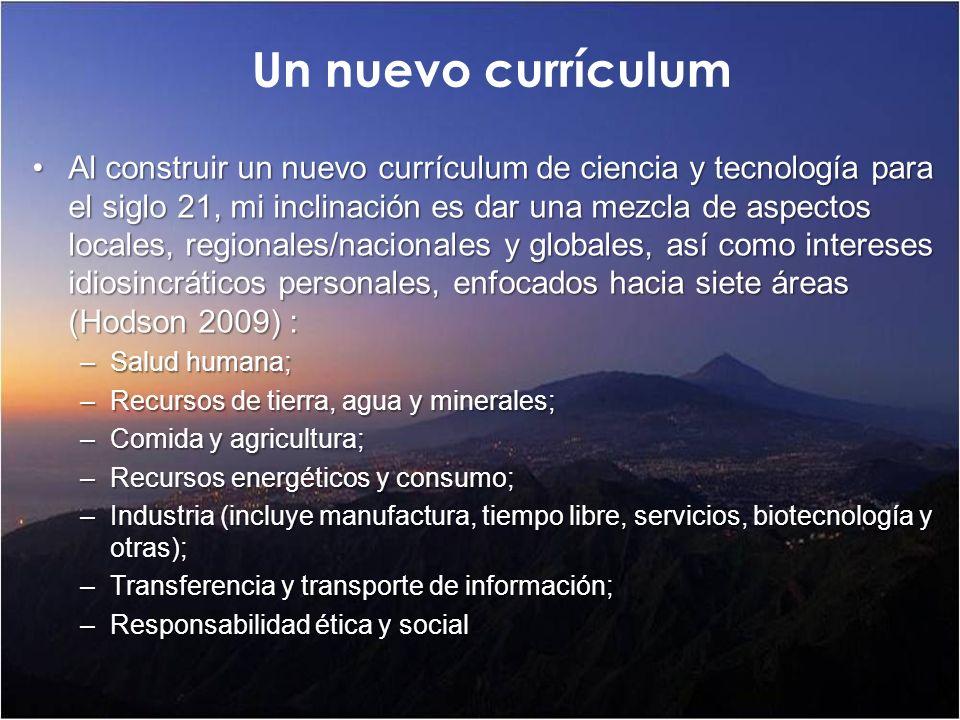 Un nuevo currículum