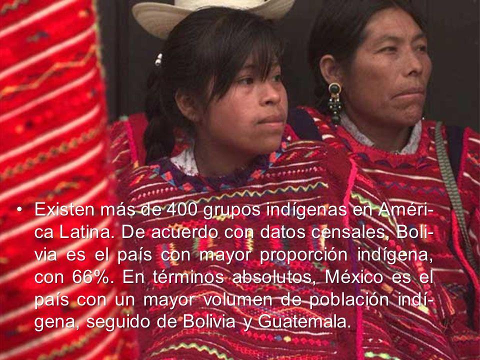 Existen más de 400 grupos indígenas en Améri-ca Latina