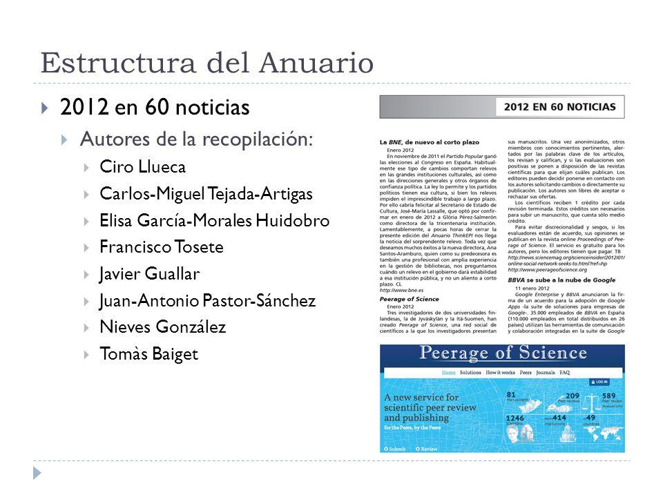 Estructura del Anuario