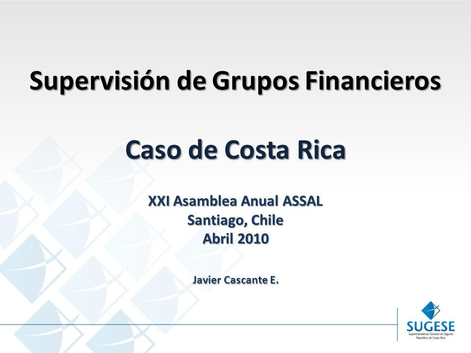 Supervisión de Grupos Financieros XXI Asamblea Anual ASSAL