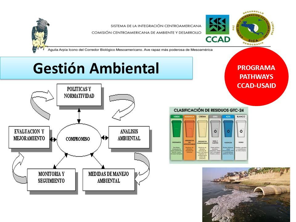 PROGRAMA PATHWAYS CCAD-USAID Gestión Ambiental