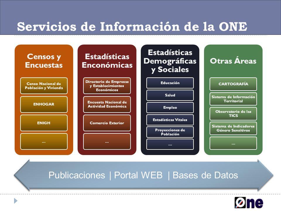 Servicios de Información de la ONE
