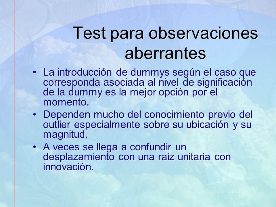 Test para observaciones aberrantes