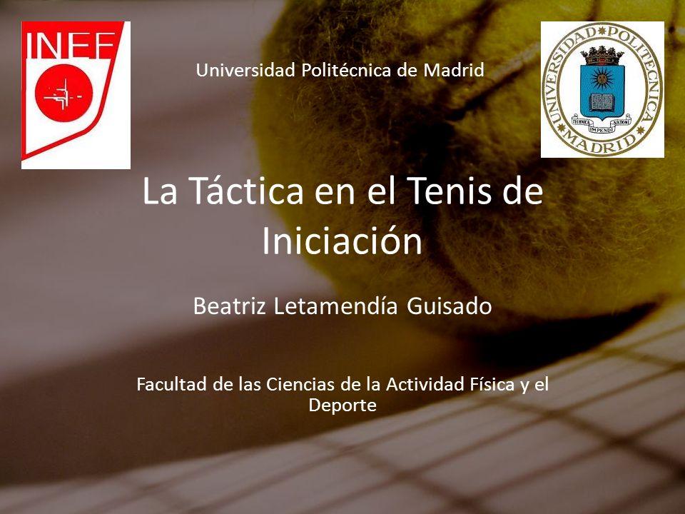 La Táctica en el Tenis de Iniciación