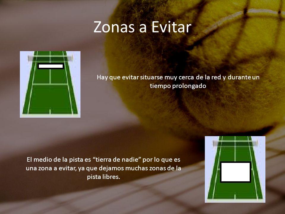 Zonas a EvitarHay que evitar situarse muy cerca de la red y durante un tiempo prolongado.