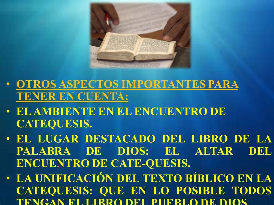 OTROS ASPECTOS IMPORTANTES PARA TENER EN CUENTA: