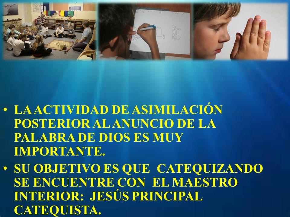 LA ACTIVIDAD DE ASIMILACIÓN POSTERIOR AL ANUNCIO DE LA PALABRA DE DIOS ES MUY IMPORTANTE.