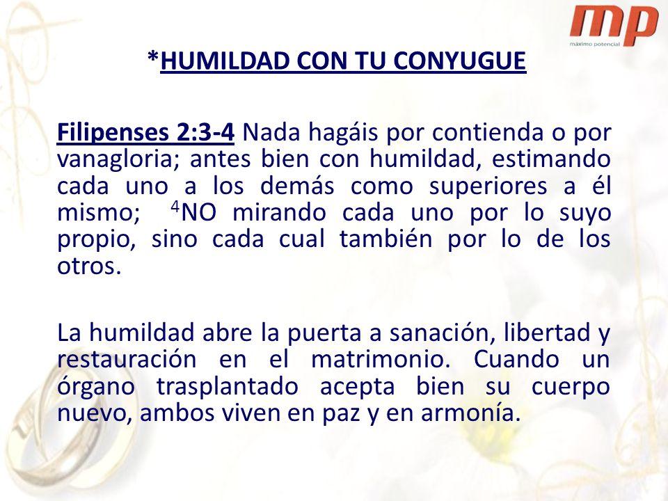 *HUMILDAD CON TU CONYUGUE