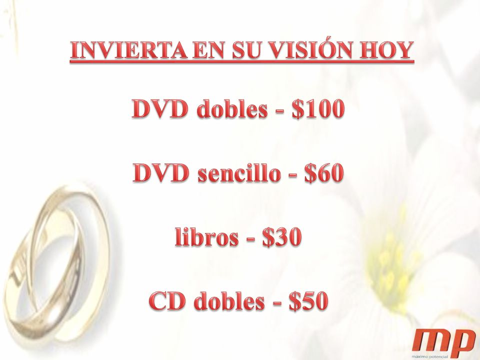 DVD dobles - $100 DVD sencillo - $60 libros - $30 CD dobles - $50