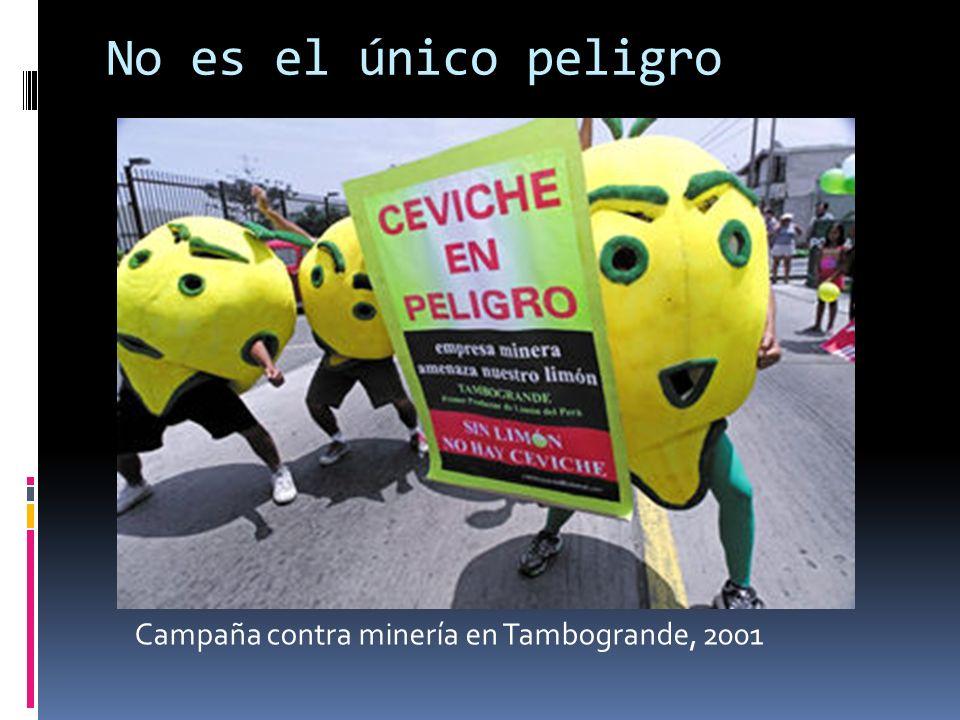 No es el único peligro Campaña contra minería en Tambogrande, 2001