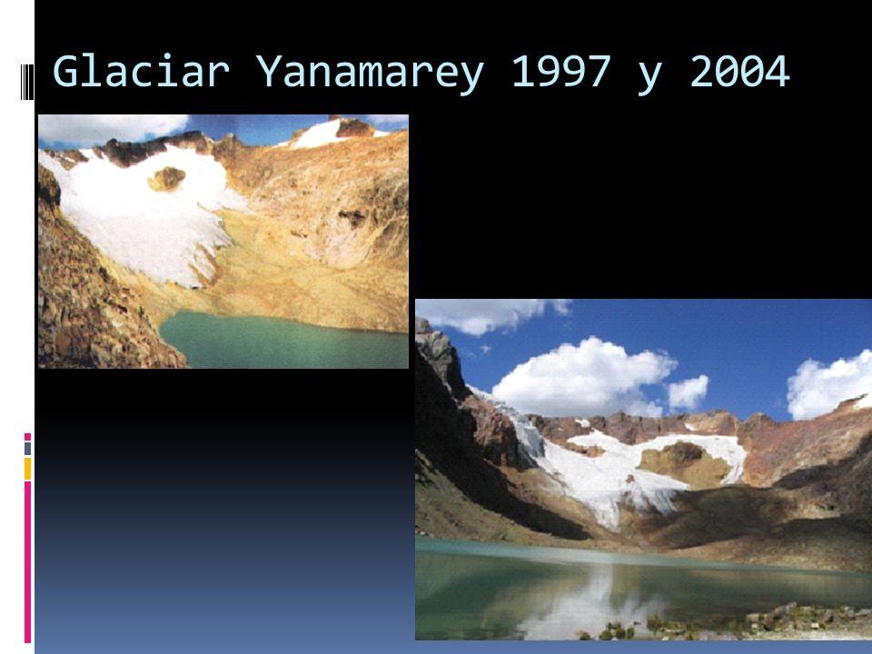 Glaciar Yanamarey 1997 y 2004