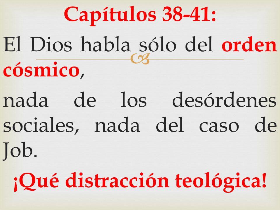 ¡Qué distracción teológica!