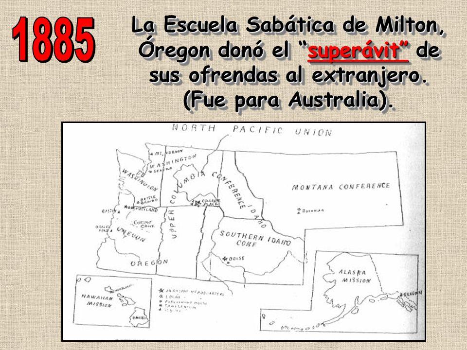 La Escuela Sabática de Milton, Óregon donó el superávit de sus ofrendas al extranjero.