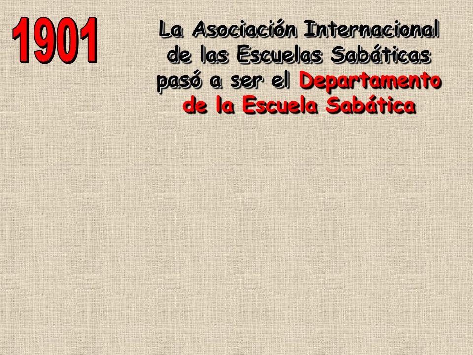 La Asociación Internacional de las Escuelas Sabáticas pasó a ser el Departamento de la Escuela Sabática