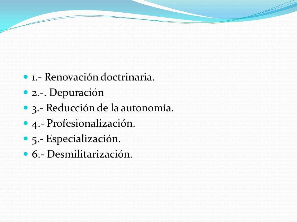 1.- Renovación doctrinaria.