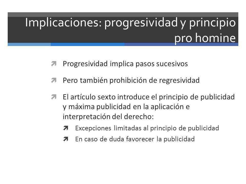 Implicaciones: progresividad y principio pro homine