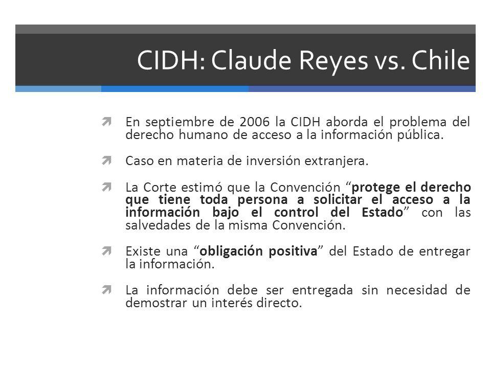 CIDH: Claude Reyes vs. Chile