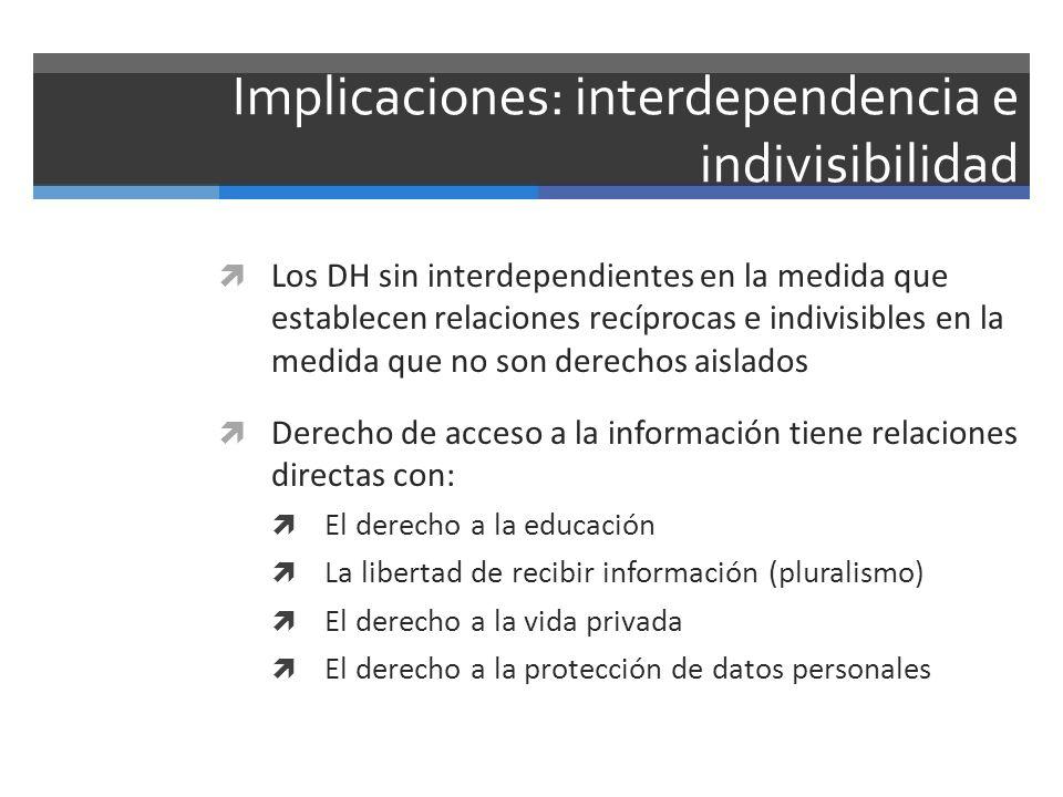 Implicaciones: interdependencia e indivisibilidad