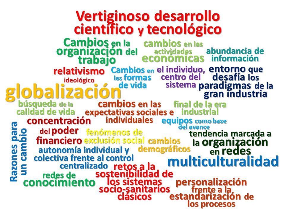 globalización Vertiginoso desarrollo científico y tecnológico
