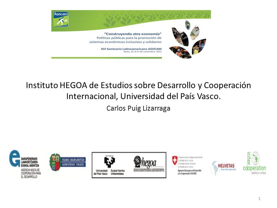 Instituto HEGOA de Estudios sobre Desarrollo y Cooperación Internacional, Universidad del País Vasco.