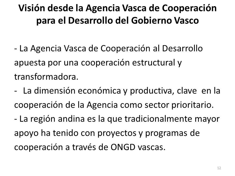 Visión desde la Agencia Vasca de Cooperación para el Desarrollo del Gobierno Vasco