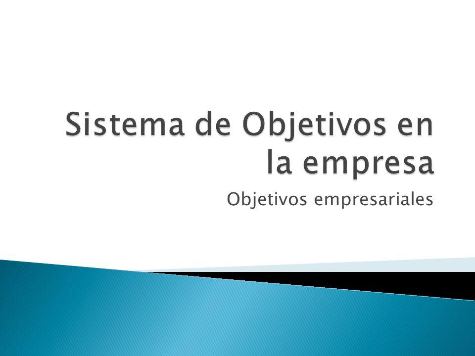 Sistema de Objetivos en la empresa