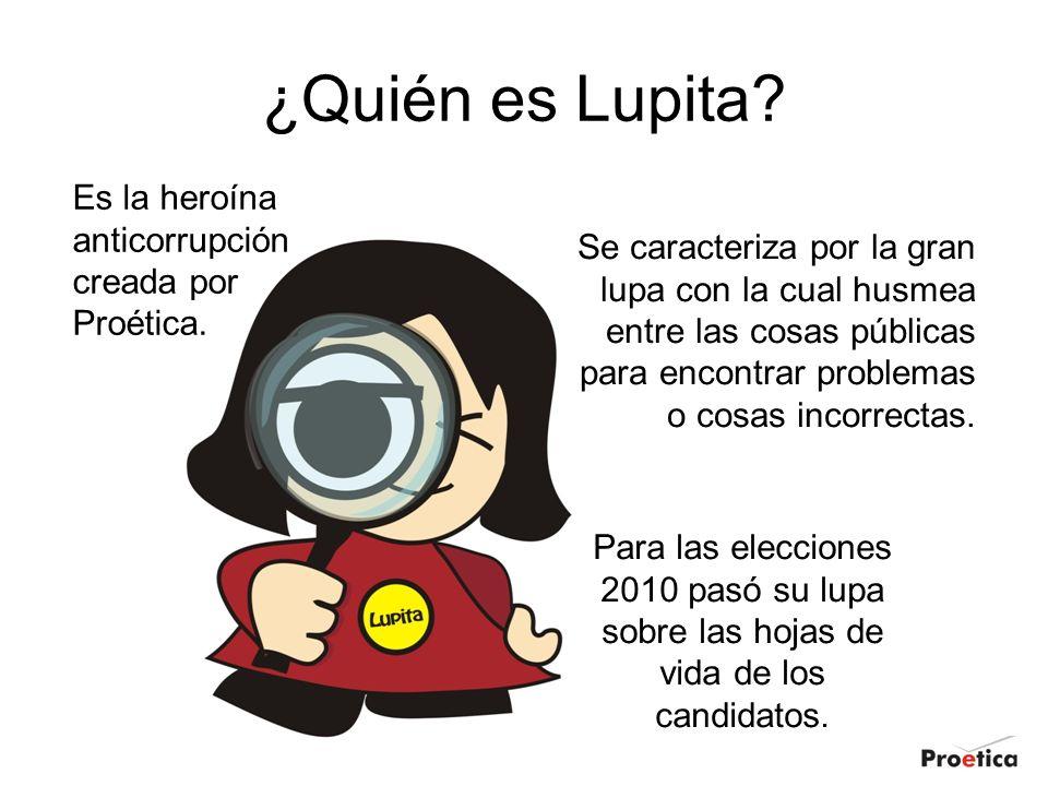 ¿Quién es Lupita Es la heroína anticorrupción creada por Proética.