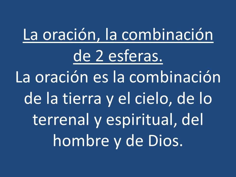 La oración, la combinación de 2 esferas
